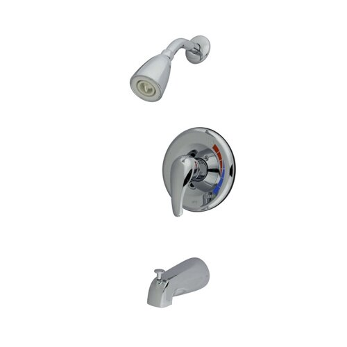 Elements of Design Single Handle Wall Mount Shower and Tub Faucet with Metal Lever Handle