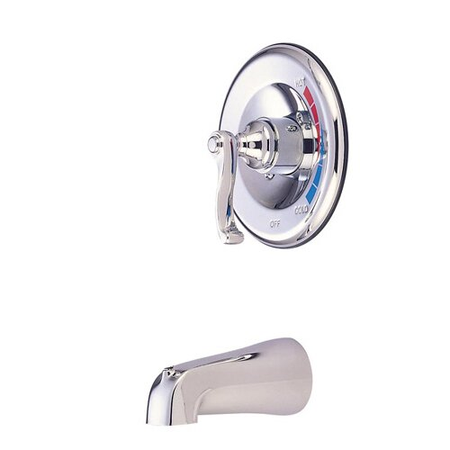 Elements of Design Atlanta Single Handle Wall Mount Tub Only Faucet French Lever Handle
