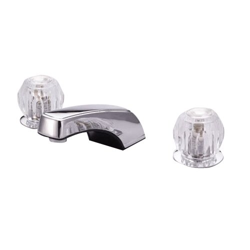 Widespread Bathroom Faucet with Double Knob Handles