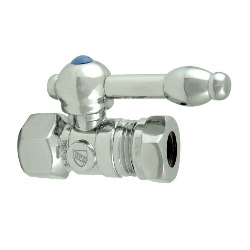 """Elements of Design 1.375"""" Decorative Quarter Turn Valves with Knight Lever Handle"""