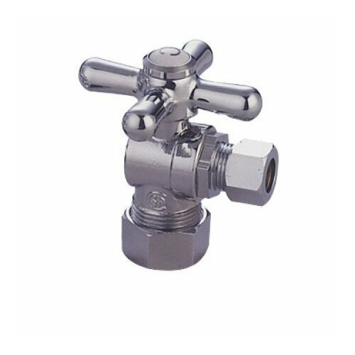 Elements of Design Accents Decorative Quarter Turn Valves with Cross Handles