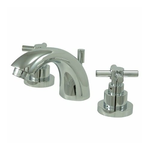 Elements of Design Tampa Mini Widespread Bathroom Faucet with Double Cross Handles