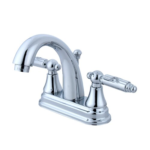 Elements of Design Elizabeth Centerset Bathroom Faucet with Double Georgian Lever Handles