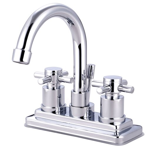 Concord Double Handle Deck Mount Bathroom Faucet