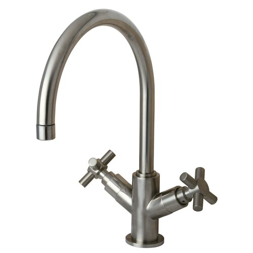 Concord Double Handle Kitchen Faucet with Plate without Sprayer