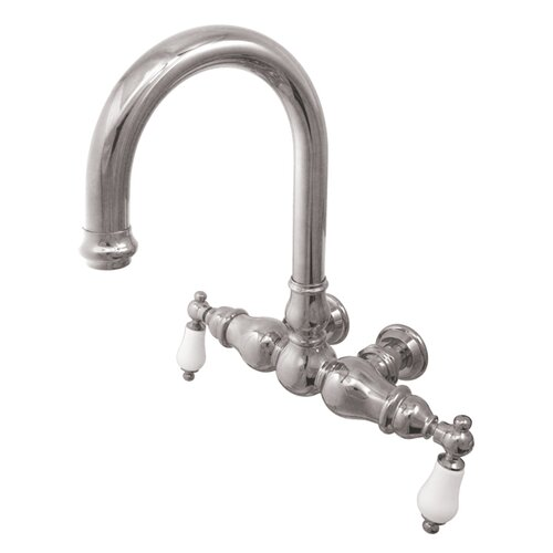 Elements of Design Hot Springs Double Handle Wall Mount Clawfoot Tub Faucet
