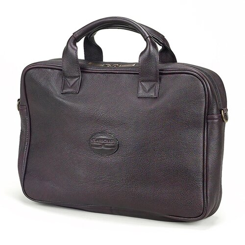 Claire Chase Small Business Leather Laptop Briefcase