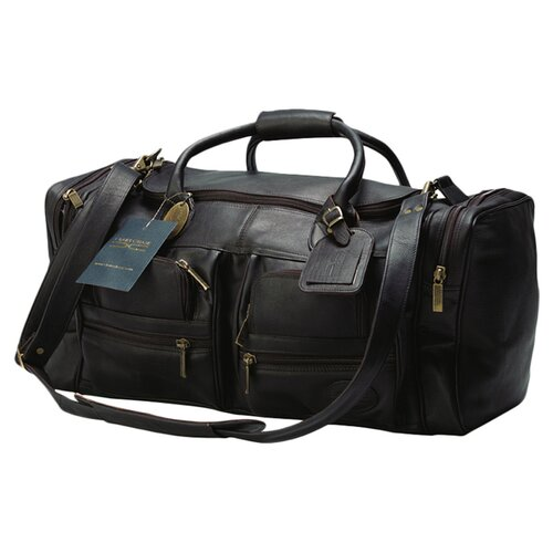 "Claire Chase Executive Sports 17"" Leather Carry-On Duffel"