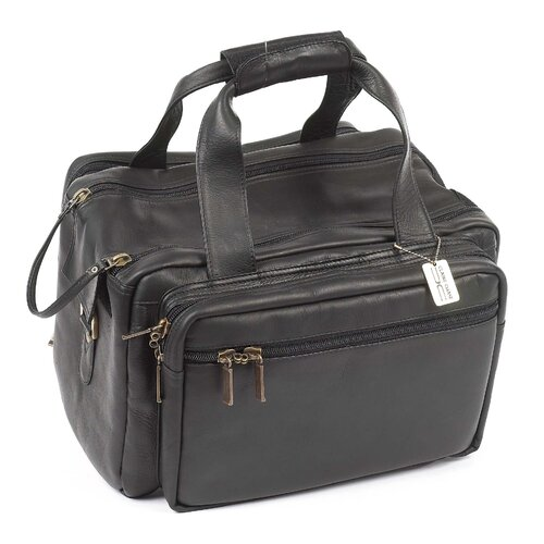 "Claire Chase Dual Pistol 15"" Leather Duffel"