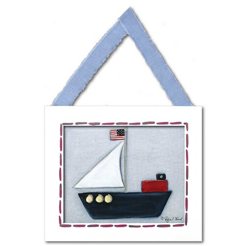 Doodlefish Transportation Sailboat Giclee Framed Art