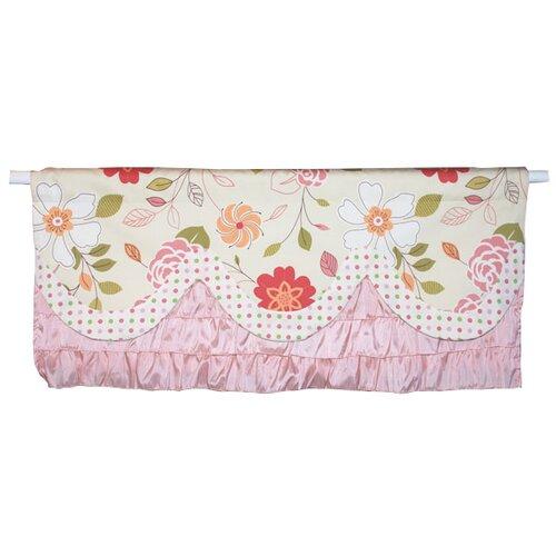 Doodlefish Rose Garden Curtain Valance