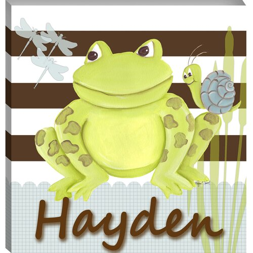 Personalized Frog Giclee Canvas Art