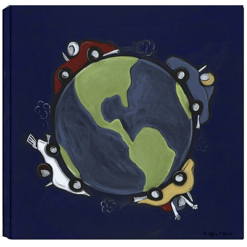 Transportation Race Around the World Giclee Canvas Art