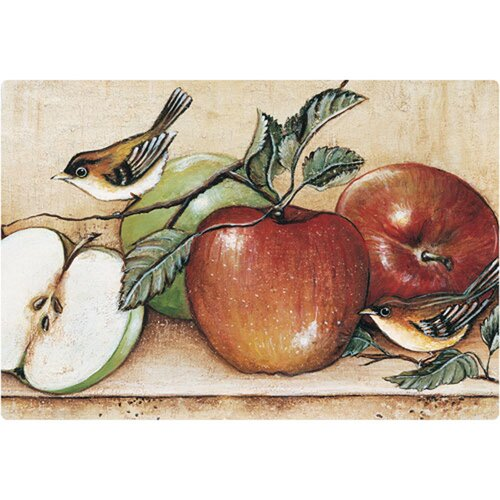 "Magic Slice 9.5"" x 12.5"" Apples and Warblers Design Cutting Board"