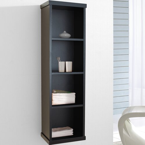 "Virtu Hewitt 47.2"" x 11.8"" Wall Mounted Bathroom Shelf"