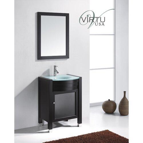 Virtu Ultra Modern 24 Single Bathroom Vanity Set With Mirror Reviews Wayfair