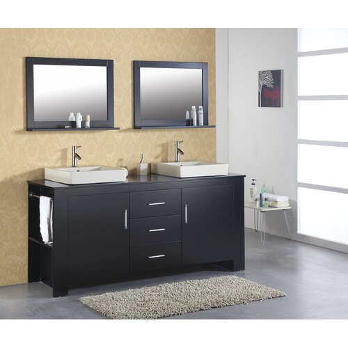 "Virtu Tavian 72"" Double Bathroom Vanity Set"