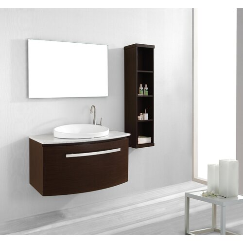 "Virtu Anabelle 39.4"" Single Bathroom Vanity Set"