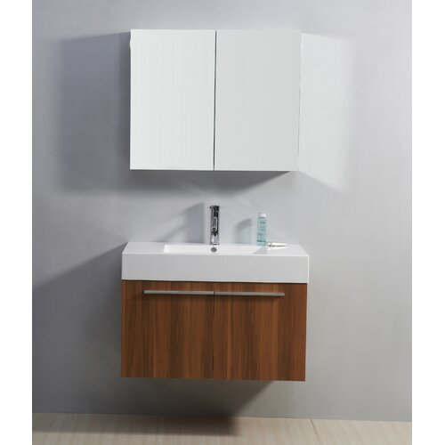 "Virtu Midori 35.2"" Single Bathroom Vanity Set"