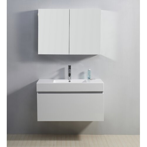 "Virtu Zuri 39"" Single Bathroom Vanity Set"