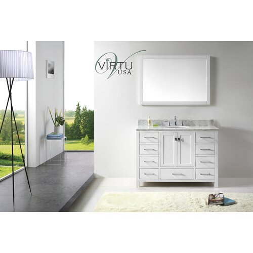 "Virtu Caroline Avenue 48.8"" Single Sink Bathroom Vanity Set"