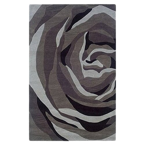 Linon Rugs Trio With A Twist Grey/Charcoal Rug