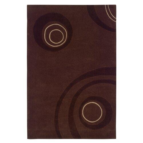 Linon Rugs Trio Chocolate Rug