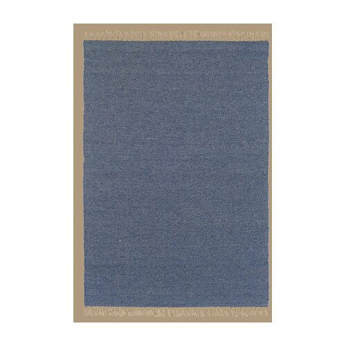 Linon Rugs Verginia Berber Denim Blue Rug
