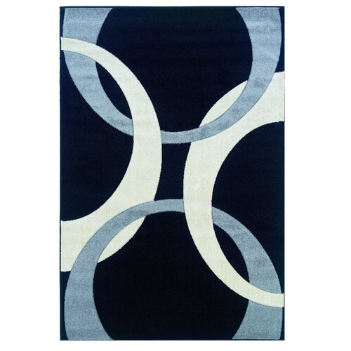 Linon Rugs Corfu Black/Grey Kids Rug