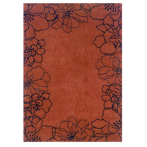 Linon Rugs Trio Orange/Black Rug