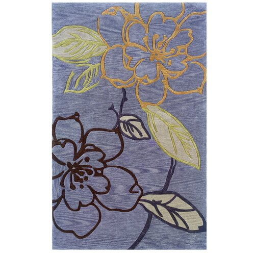 Linon Rugs Trio Space Dyed Thistle/Blue Rug