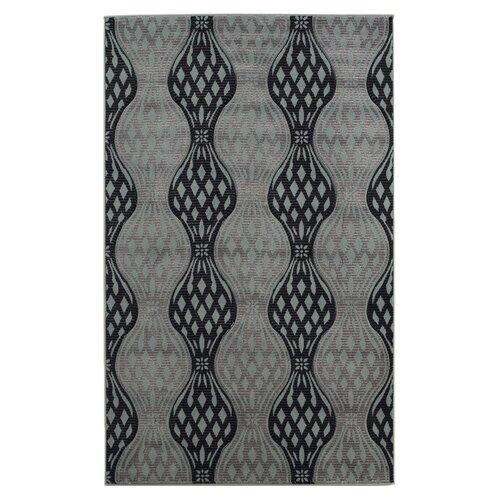 Linon Rugs Milan Black/Gray Rug