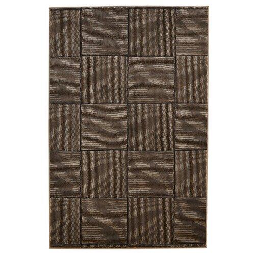 Linon Rugs Milan Checker Brown Rug