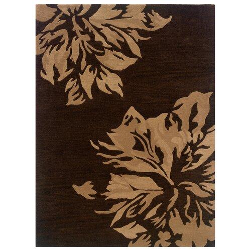 Linon Rugs Florence Chocolate/Sand Rug