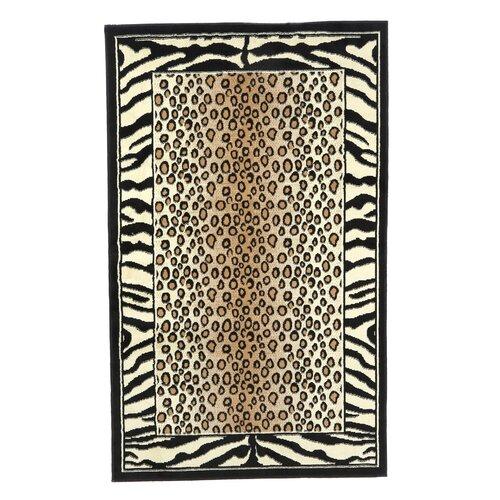 Capri Black Leopard Rug
