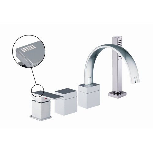 Fima by Nameeks Brick Chic Single Handle Deck Mount Thermostatic Tub Shower Faucet with Hand Shower