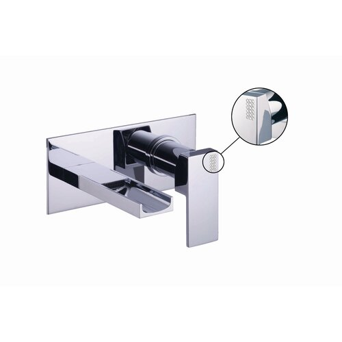 Fima by Nameeks Brick Chic Wall Mounted Bathroom Sink Faucet with Single Handle