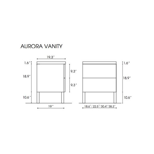 "Iotti by Nameeks Aurora 60"" Bathroom Vanity Set"