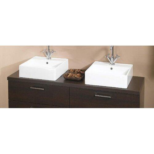 """Iotti by Nameeks Aurora 61"""" Wooden Bathroom Vanity Top"""