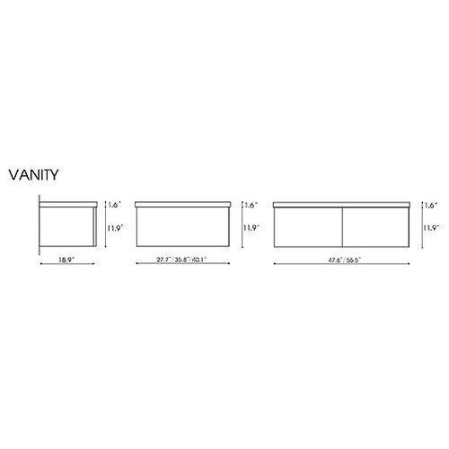 """Iotti by Nameeks Fly 48.6"""" Bathroom Vanity Set"""