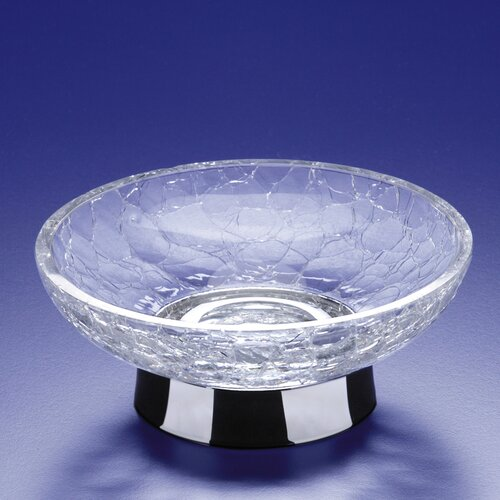 Windisch by Nameeks Crackled Glass Soap Dish with Stand