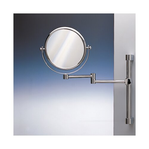 Double Face Wall Mounted 5X Magnifying Mirror with One Arm and One Brazo