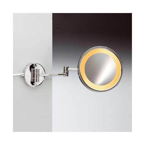 Windisch by Nameeks Incandescent Light 3X Magnifying Mirror with Two Arms Direct Wired