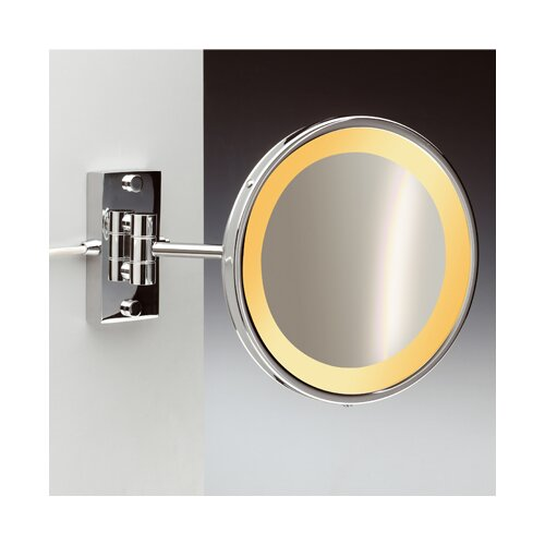Incandescent Light 5X Magnifying Mirror with One Arm Direct Wired