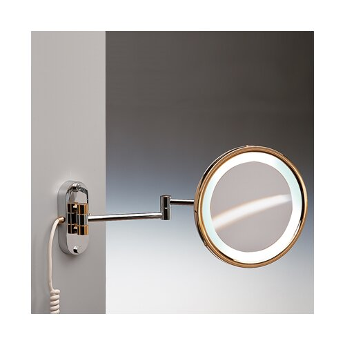 Fluorescent Light Extendable 3X Magnifying Mirror
