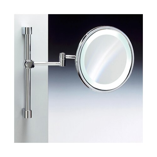 Fluorescent Light Adjustable and Extendable 5X Magnifying Mirror