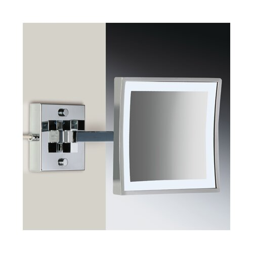 Wall Mounted 3X Magnifying LED Mirror with One Arm and Switch
