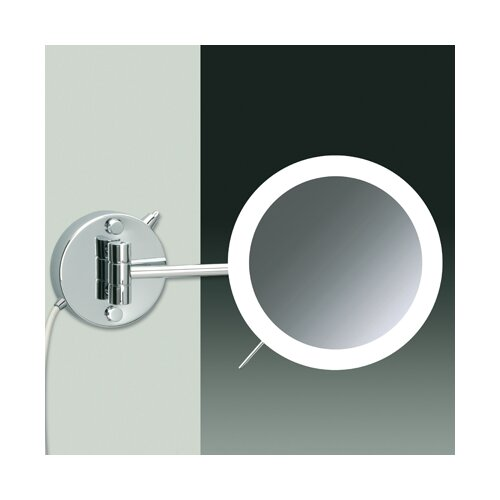 Wall Mounted 3X Magnifying LED Mirror with Direct Wired One Arm and Sensor