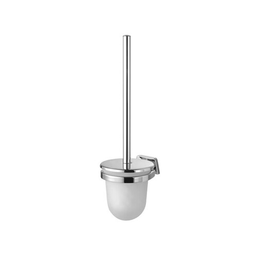 Geesa by Nameeks Standard Hotel Toilet Brush Holder with Lid in Chrome