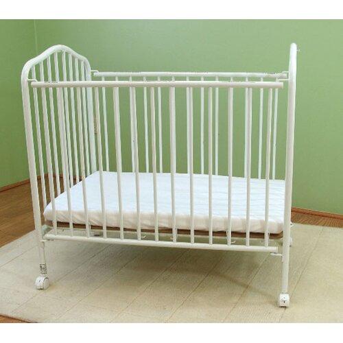 L.A. Baby Compact Folding Metal Crib